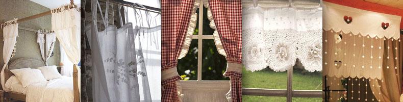 Rideaux - Montagne - brise-bise, rideau en coton, en lin, voile de ...