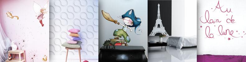 acte deco stickers et papiers peints. Black Bedroom Furniture Sets. Home Design Ideas