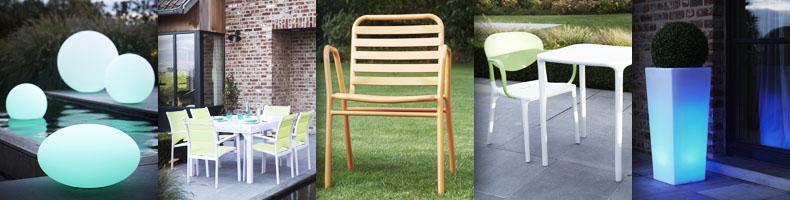 Wilsa Garden - Tables de jardin - table de jardin en béton ciré, en ...