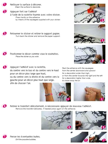 Instructions de pose - Stickers Acte-deco