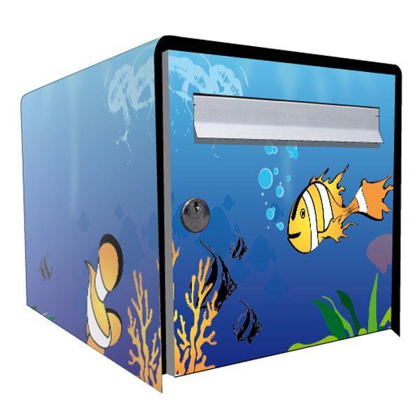 Stickers boîte aux lettres Déco Aquarium   Décoration | decotaime.fr