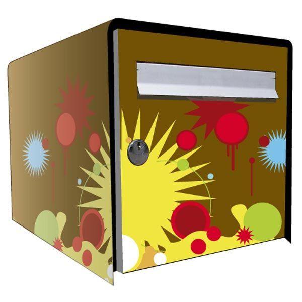 Boite Aux Lettres En Bois En Kit : Stickers bo?te aux lettres D?co Graphic 1 – Paradise d?co