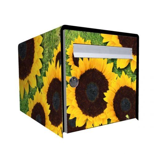 stickers bo te aux lettres d co tournesol d coration. Black Bedroom Furniture Sets. Home Design Ideas