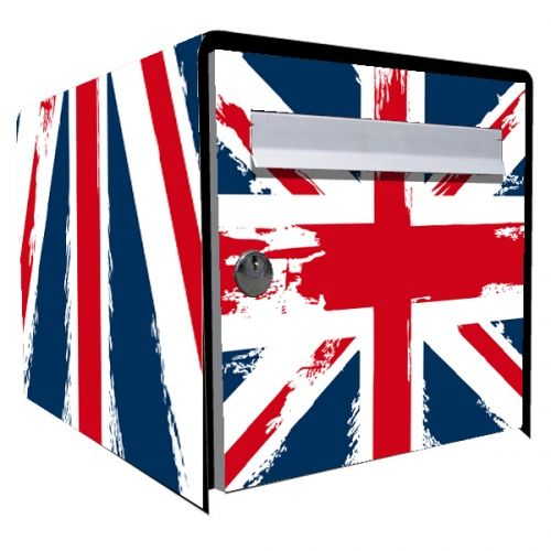 stickers bo te aux lettres d co union jack d coration. Black Bedroom Furniture Sets. Home Design Ideas