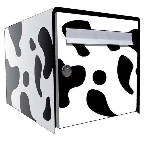 stickers bo te aux lettres d co vache. Black Bedroom Furniture Sets. Home Design Ideas