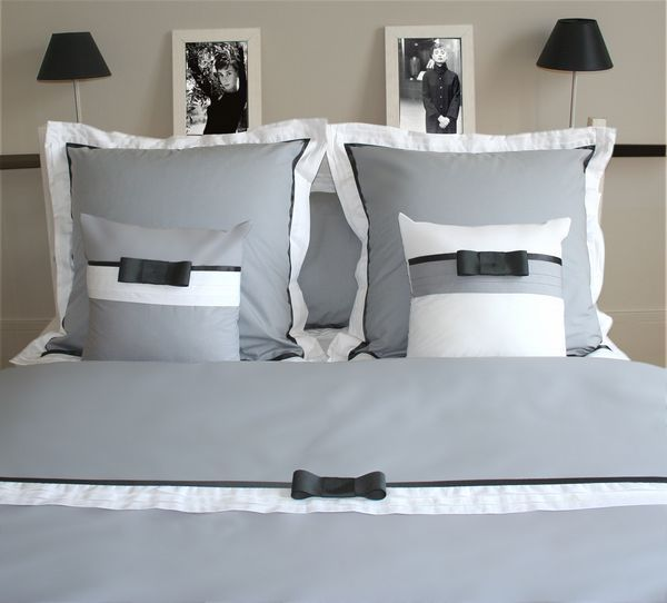 housse de couette audrey h percale 140x200 linge de maison. Black Bedroom Furniture Sets. Home Design Ideas