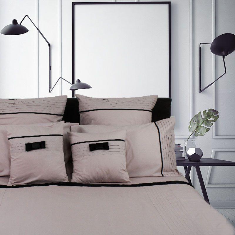 housse de couette lily rose poudr percale 200x200 liou. Black Bedroom Furniture Sets. Home Design Ideas
