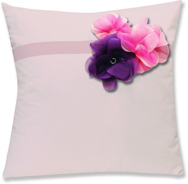 housses de coussin percale botanique rose fleurs rose violet 40x40. Black Bedroom Furniture Sets. Home Design Ideas