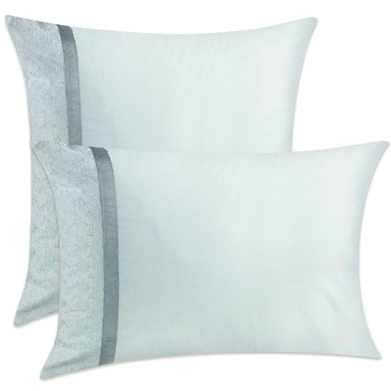 taie d 39 oreiller nataly blanc 50x75 linge de maison. Black Bedroom Furniture Sets. Home Design Ideas