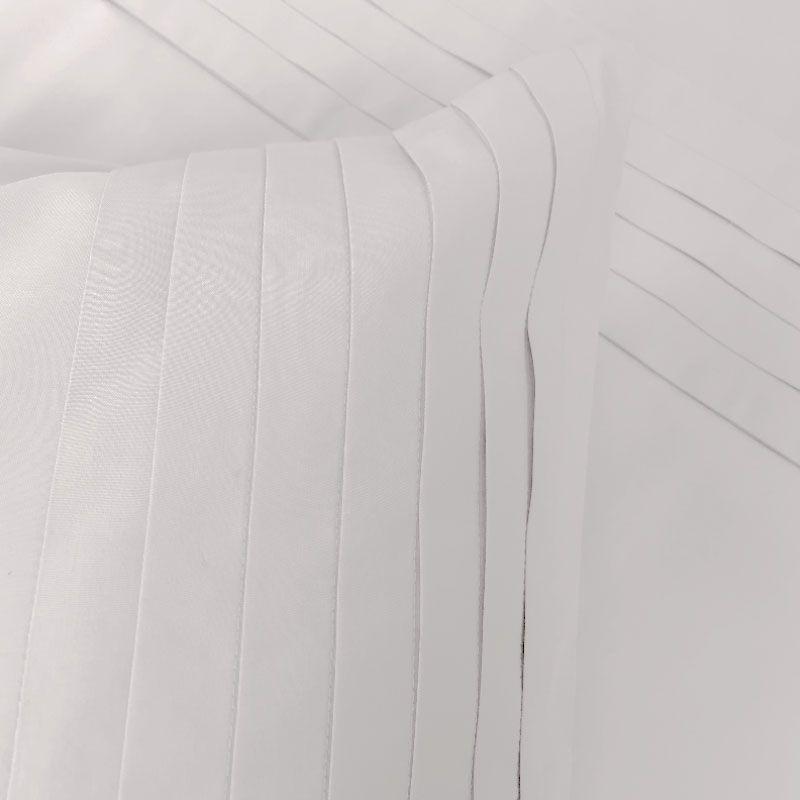 taie d 39 oreiller origami blanc percale 50x75 linge de maison. Black Bedroom Furniture Sets. Home Design Ideas