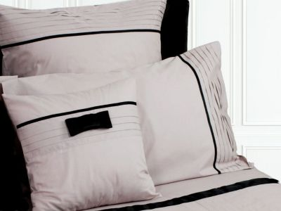 taie de coussin lily rose poudr percale 40x40 linge de maison. Black Bedroom Furniture Sets. Home Design Ideas