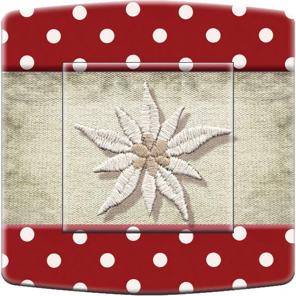 interrupteur d cor montagne tissu edelweiss simple d coration. Black Bedroom Furniture Sets. Home Design Ideas