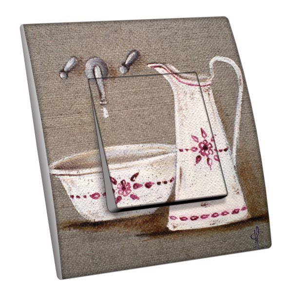 Interrupteur d cor salle de bain broc et cuvette poussoir for Interrupteur salle de bain norme