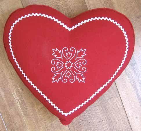 Coussin coeur rouge 40 d coration - Decoration coeur rouge ...