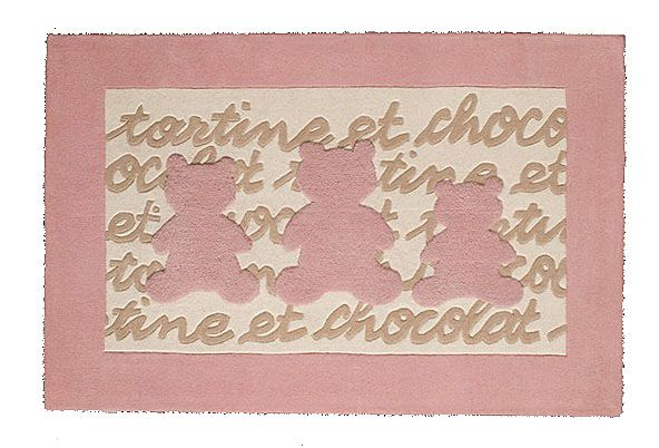 Tapis comptine tartine et chocolat rose toulemonde bochart - Tapis toulemonde bochart soldes ...