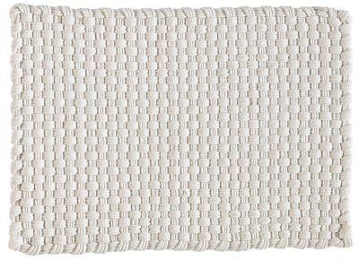 tapis cordage blanc coton 60x90 - Tapis Coton