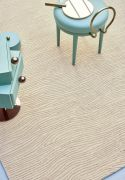 Tapis Turbulences tufté main en laine/lurex naturel or 200x300 - Toulemonde Bochart