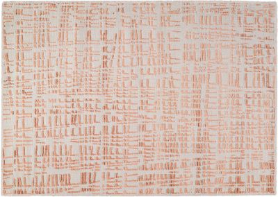 Tapis en viscose polyester givre cuivre 170x240 for Tapis toulemonde bochart soldes