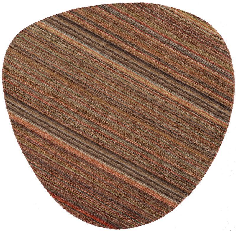 tapis laine vibrato multi brun 200x200 d coration. Black Bedroom Furniture Sets. Home Design Ideas