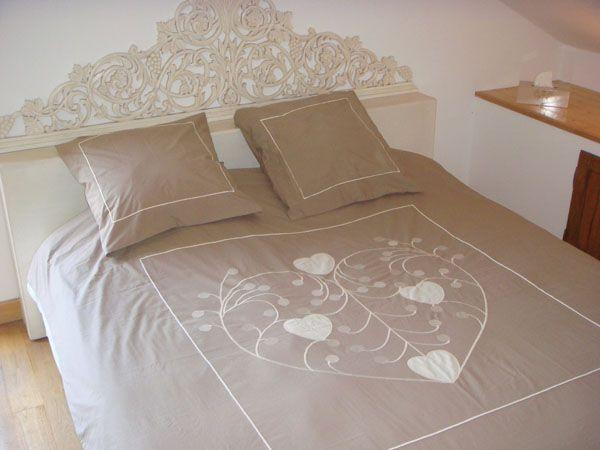 housse de couette arabesque beige 200x200 linge de. Black Bedroom Furniture Sets. Home Design Ideas