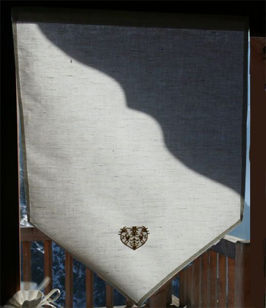Rideau Brise-bise métis pointe 60x90 BT - Décoration   decotaime.fr