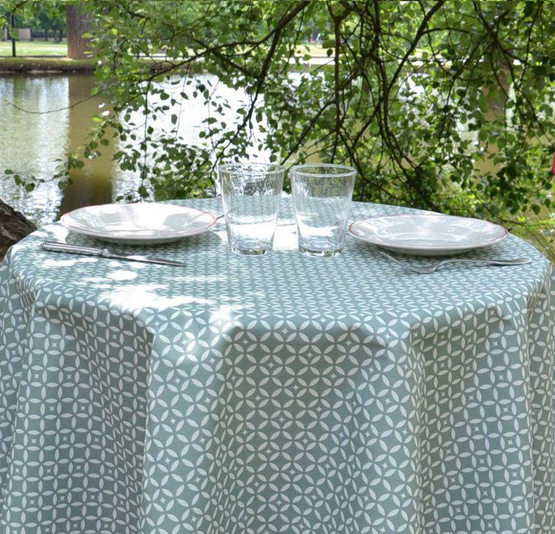 Nappe mosa que verte coton enduit 120x120 fleur de soleil for Nappe phreatique sous maison