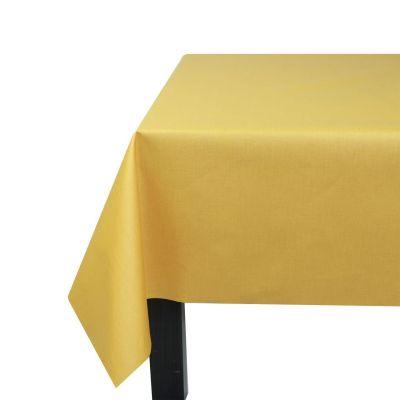 nappe unis curry coton enduit carr e 160x160 fleur de soleil. Black Bedroom Furniture Sets. Home Design Ideas