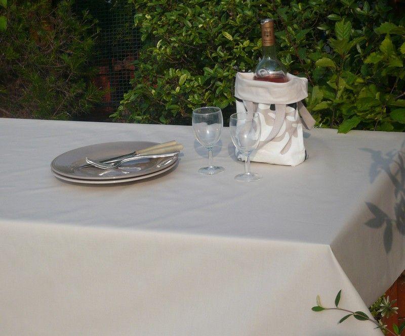 nappe coton enduit unis sable 120x120 fleur de soleil. Black Bedroom Furniture Sets. Home Design Ideas