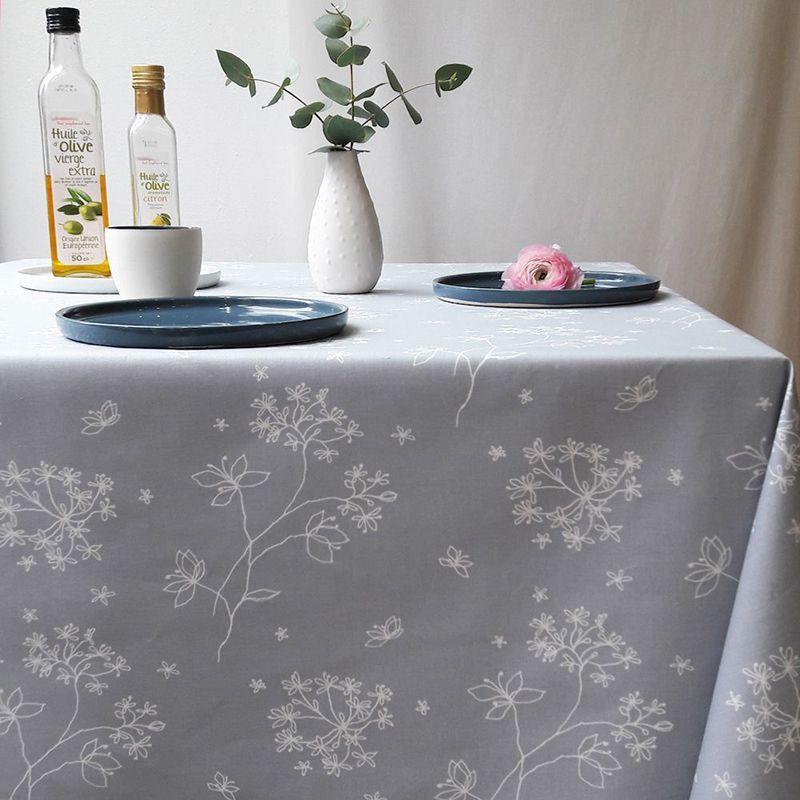 nappe enduite astrance gris 120x180 fleur de soleil linge de maison decotaime. Black Bedroom Furniture Sets. Home Design Ideas