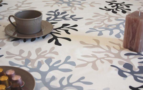 nappe enduite corail gris taupe 160x160 fleur de soleil. Black Bedroom Furniture Sets. Home Design Ideas
