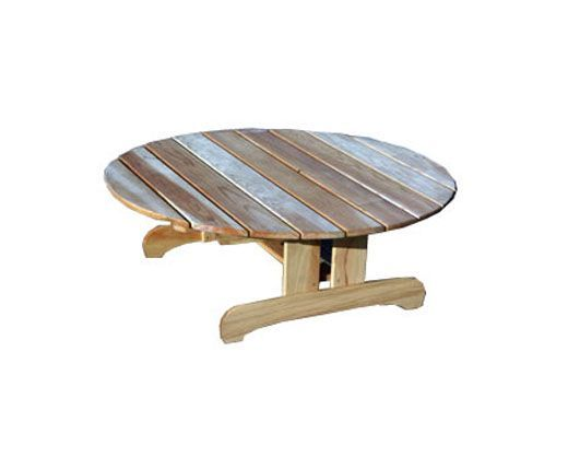 Table basse de jardin pin trait toubab ronde - Table basse de jardin ...