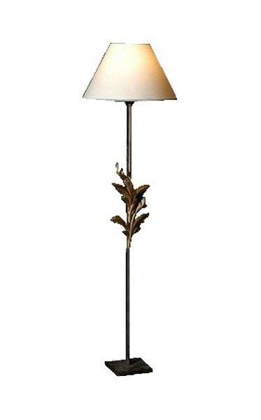 Lampe fer forg feuilles acanthe - Lampe de chevet fer forge ...