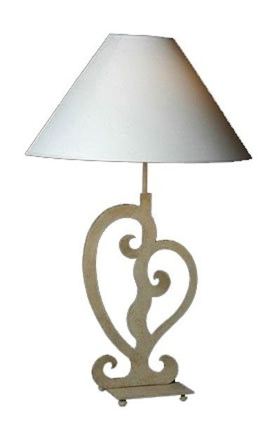 lampe fer forgé silhouette motif coeur