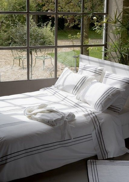 Drap de lit Vendôme percale 240x300 - Essix Home Collection
