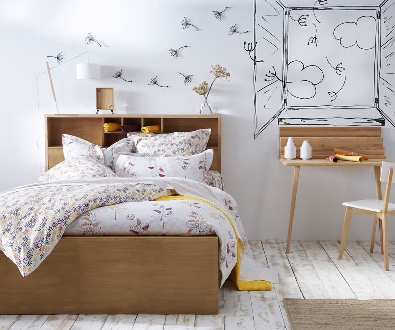 drap de lit satin de coton tocade 270x300 essix home collection. Black Bedroom Furniture Sets. Home Design Ideas
