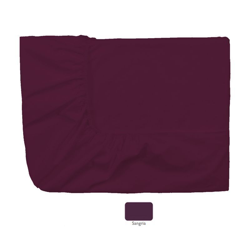 Drap housse percale uni royal line sangria 80x200 essix for Drap housse 80x200