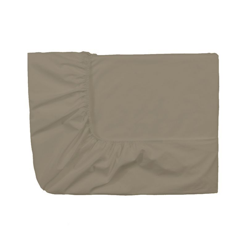 drap housse uni royal line taupe percale 200x200 linge de maison. Black Bedroom Furniture Sets. Home Design Ideas