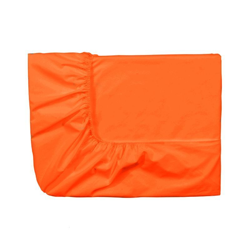 Drap housse uni triumph mandarine satin de coton 80x200 for Drap housse satin