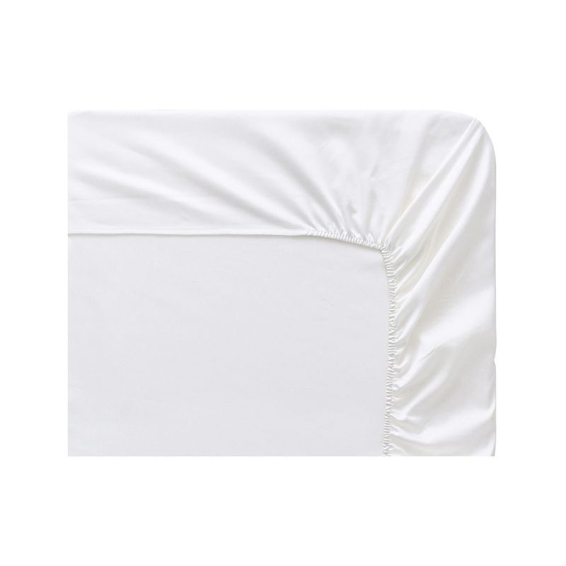 Drap housse uni triumph panna cotta satin de coton 140x190 for Drap housse 140x190