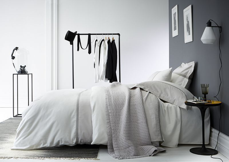 drap plat toi moi gris meringue flanelle 270x300 linge de maison. Black Bedroom Furniture Sets. Home Design Ideas