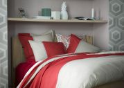 Drap plat percale bicolore Toi et moi Bandana sienne 180x290 - Essix Home Collection