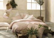 Housse de couette Occitan percale motif provençal rose Coquillage 140x200 - Essix Home Collection