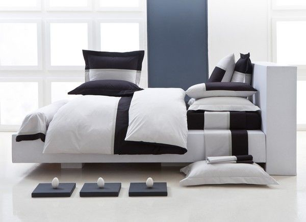 housse de couette toi et moi noir gris perle 200x200 linge de maison. Black Bedroom Furniture Sets. Home Design Ideas