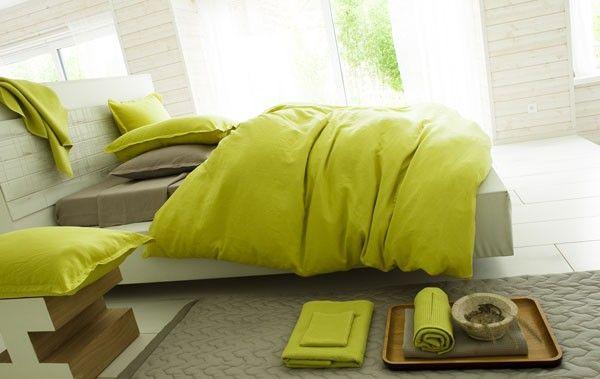 housse de couette lin lav d lices anis 240x220 linge de maison. Black Bedroom Furniture Sets. Home Design Ideas
