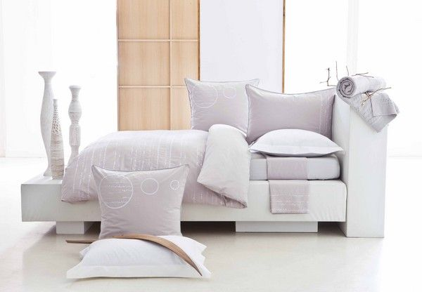 Housse de couette percale Discr�tion 140x200 - Essix Home Collection