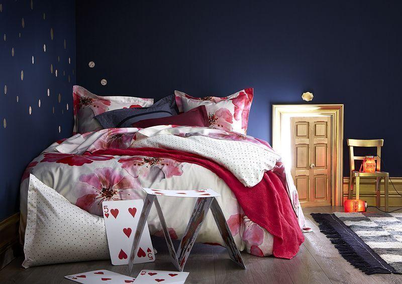 housse de couette satin de coton parfum 140x200. Black Bedroom Furniture Sets. Home Design Ideas