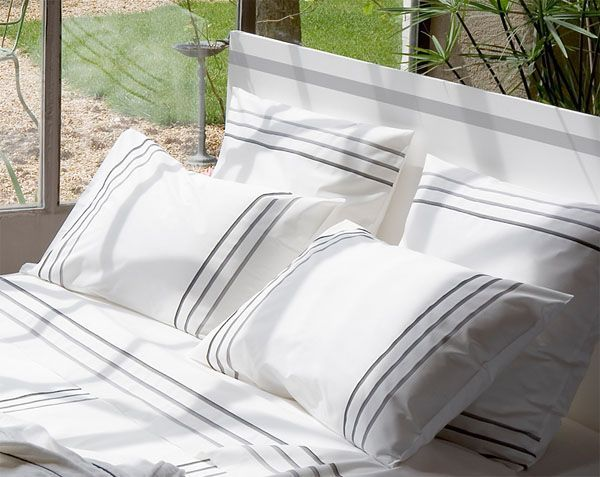 Taie d'oreiller Vendôme percale 64x64 - Essix Home Collection