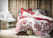 Taie d'oreiller percale motif paisley Bandana sienne 50x75 - Essix Home Collection