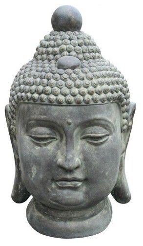 Bibelot fibre d 39 argile bouddha hauteur 51 cm for Bibelot de decoration