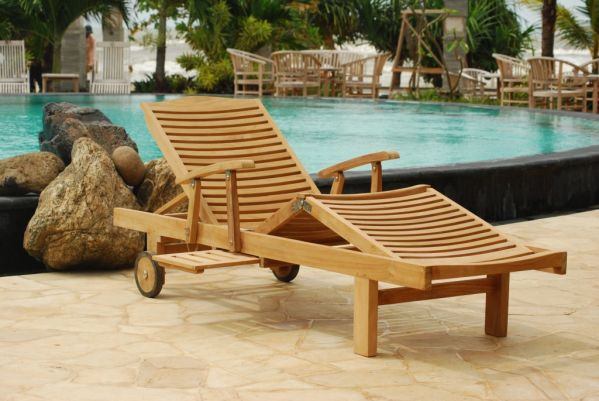 chaise longue teck bahia meubles de jardin. Black Bedroom Furniture Sets. Home Design Ideas